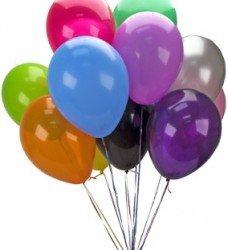 Rengarenk 9 Adet Uçan Balon